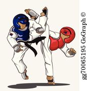 Taekwondo pictures clipart jpg royalty free library Taekwondo Clip Art - Royalty Free - GoGraph jpg royalty free library