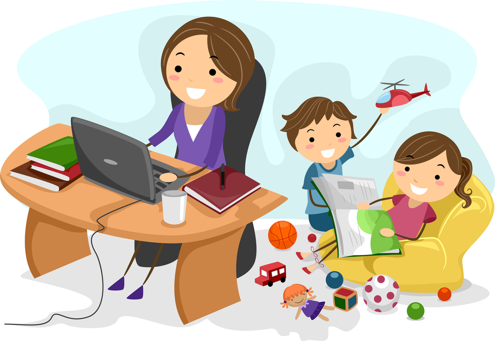 Taek kid to work clipart clip royalty free library Why Women Should Create a Flexible Career Before Having Kids clip royalty free library