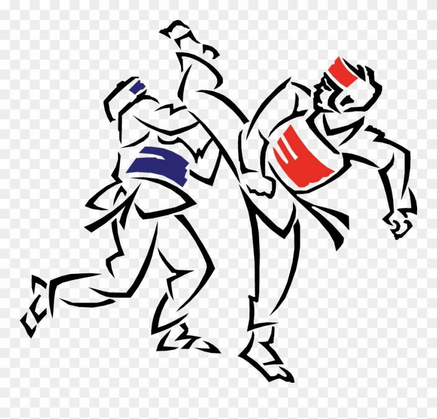 Taekwondo logo clipart jpg royalty free Vector Transparent Taekwon - Png Taekwondo Clipart (#1692318 ... jpg royalty free