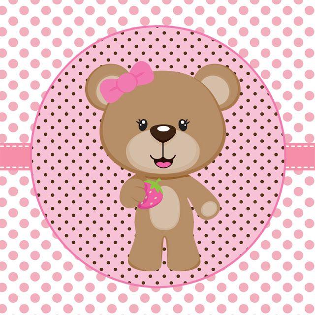 Tag para imprimir clipart rosa image black and white stock Tags de Ursinha rosa e marrom para imprimir | Přání k ... image black and white stock