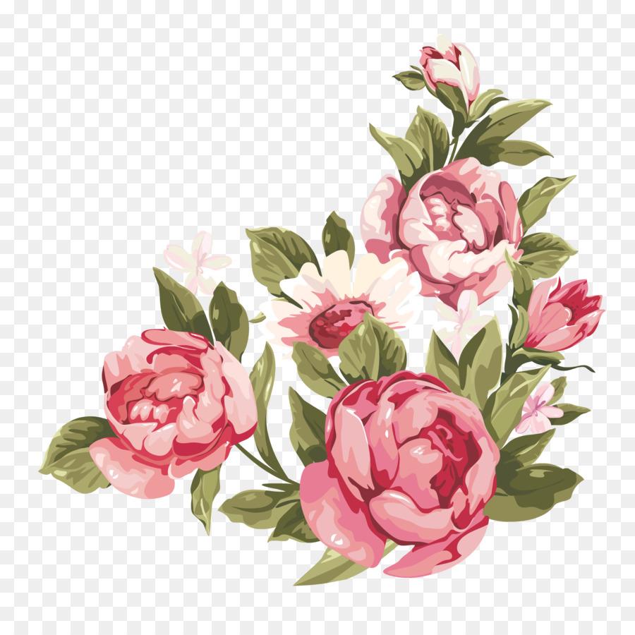 Tag para imprimir clipart rosa clip free Floral Flower Background clipart - Flower, Rose, transparent ... clip free