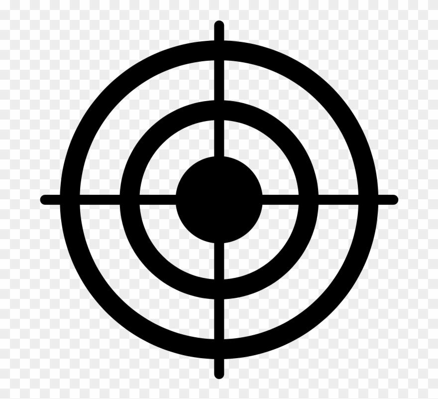 Taget clipart vector transparent stock Black Clipart - Target Clip Art Black And White - Png ... vector transparent stock