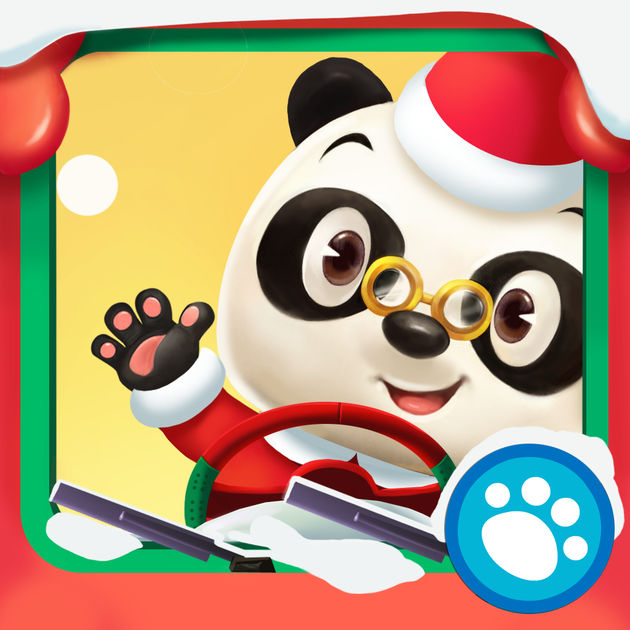 Tai clipart mien phi vector black and white stock Dr. Panda's Bus Driver: Christmas on the App Store vector black and white stock