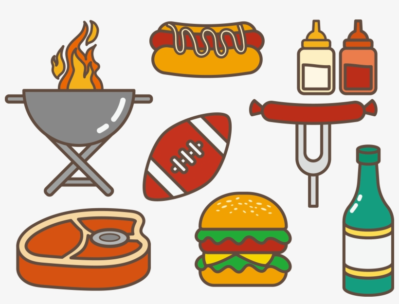 Tailgate food clipart picture free download Hamburgers Clipart Barbeque Food - Tailgate Food Clip Art ... picture free download