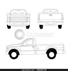 Tailgating clipart black and white picture stock clip art of back of pickup truck - Google Search ... picture stock