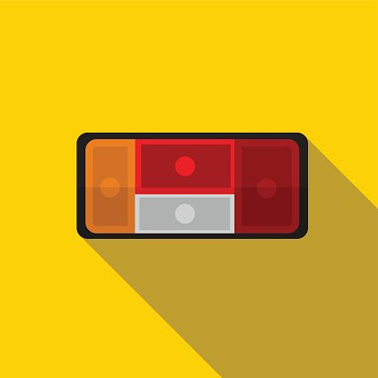 Taillight clipart royalty free Car Taillight Flat Icon Illustration premium clipart ... royalty free