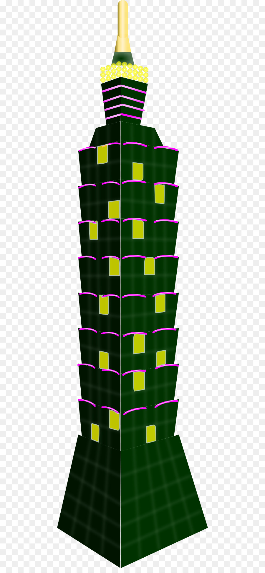 Taipei 101 clipart picture freeuse stock Green City Drawing png download - 512*1923 - Free ... picture freeuse stock