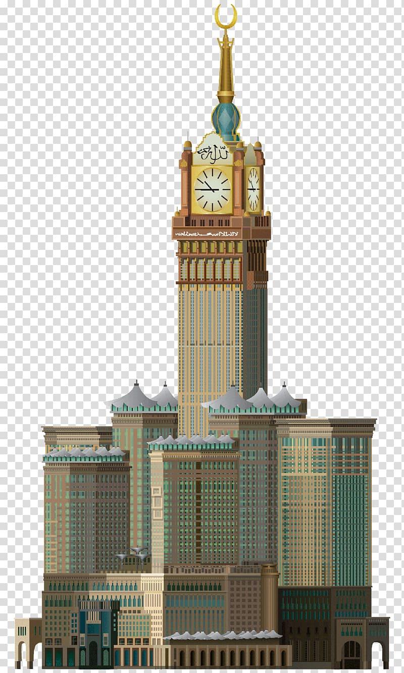 Taipei 101 clipart vector stock Brown building , Abraj Al Bait Makkah Royal Clock Tower ... vector stock