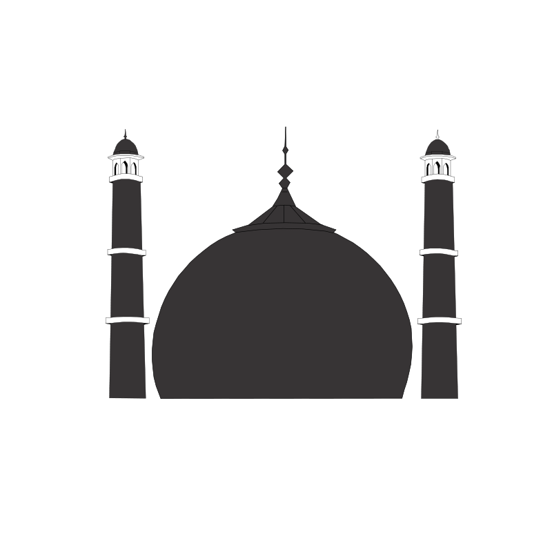Taj mahal clipart free banner black and white Free Clipart: Taj Mahal | AmanaGraphics banner black and white