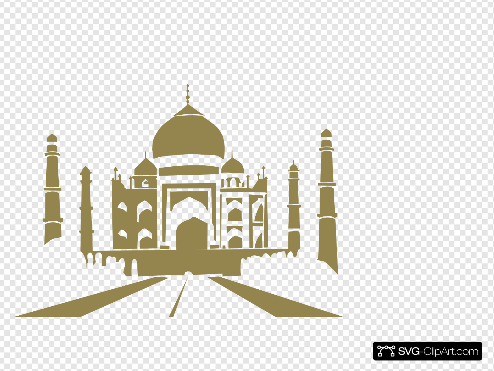 Taj clipart banner transparent library Taj Mahal Roti Prata Clip art, Icon and SVG - SVG Clipart banner transparent library