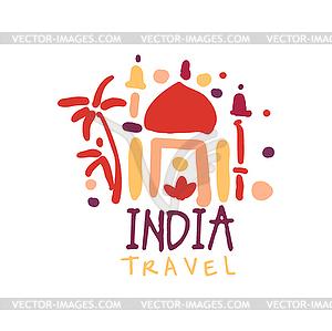 Taj logo clipart picture freeuse stock Travel to India logo with Taj Mahal - vector clipart picture freeuse stock