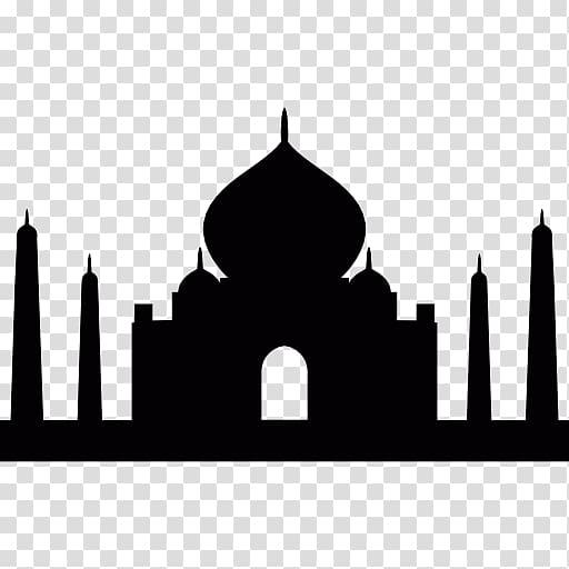 Taj logo clipart clip art free Black Taj Mahal Monument Computer Icons Mausoleum, taj mahal ... clip art free