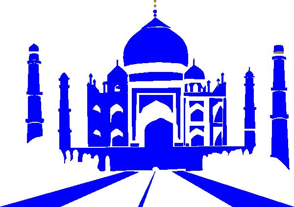 Taj mahal clipart clip art library library Blue Taj Mahal Clip Art at Clker.com - vector clip art ... clip art library library