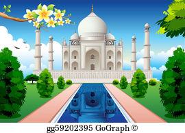 Taj mahal clipart picture library stock Taj Mahal Clip Art - Royalty Free - GoGraph picture library stock