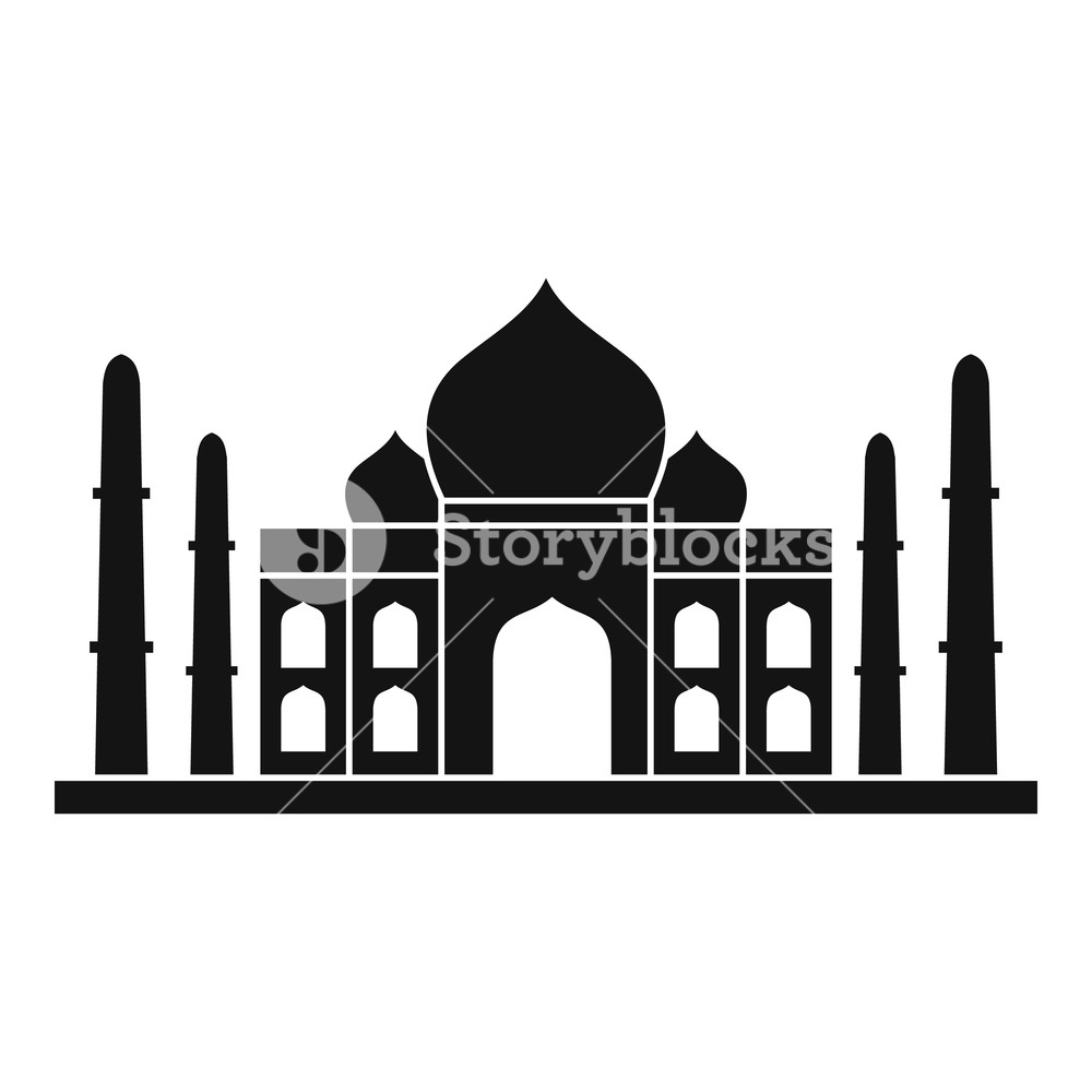 Taj mahal vector clipart png transparent stock Taj mahal icon. Simple illustration of taj mahal vector icon ... png transparent stock