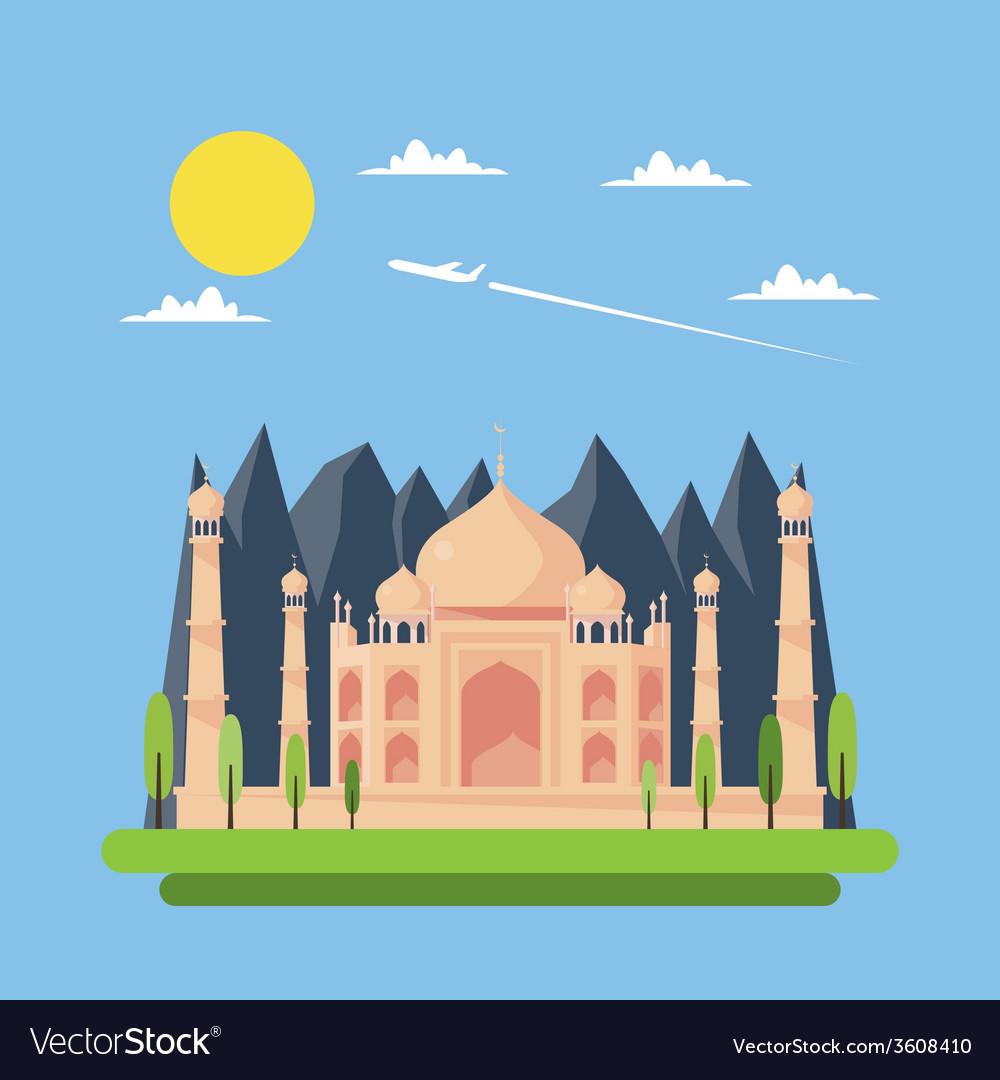 Taj mahal vector clipart graphic free stock Flat design of Taj Mahal graphic free stock