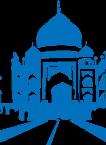 Taj mahal vector clipart clip art royalty free stock Taj Mahal vector graphics | Public domain vectors clip art royalty free stock