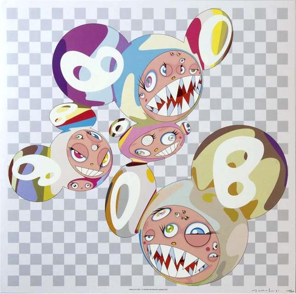 Takashi clipart vector transparent stock Takashi Murakami - Para-Kiti Dob vector transparent stock