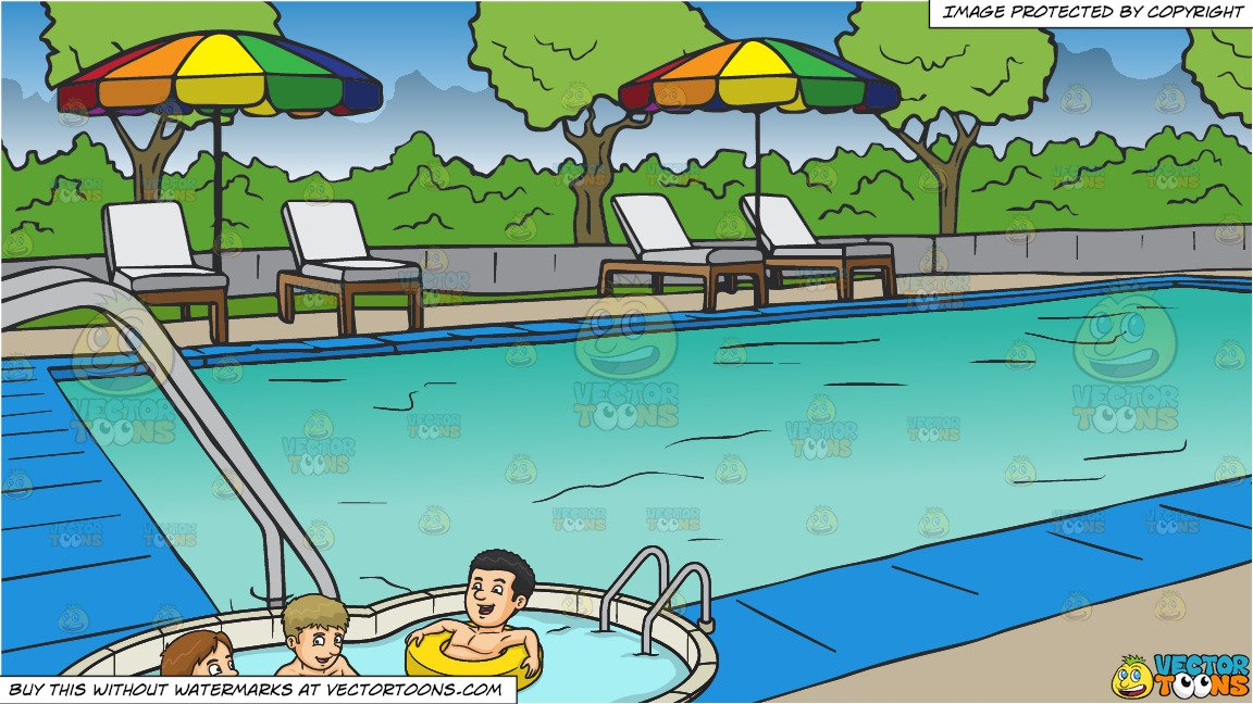Take a dip swimming clipart graphic free download Three Friends Enjoying A Dip In The Pool and A Swimming Pool At A Hotel  Background graphic free download