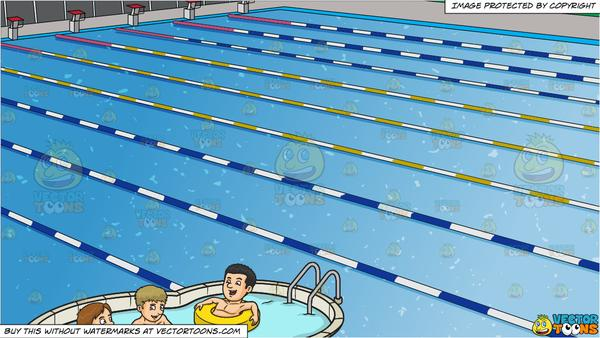 Take a dip swimming clipart clip art freeuse download Three Friends Enjoying A Dip In The Pool and Outdoor Competition Swimming  Pool Background clip art freeuse download