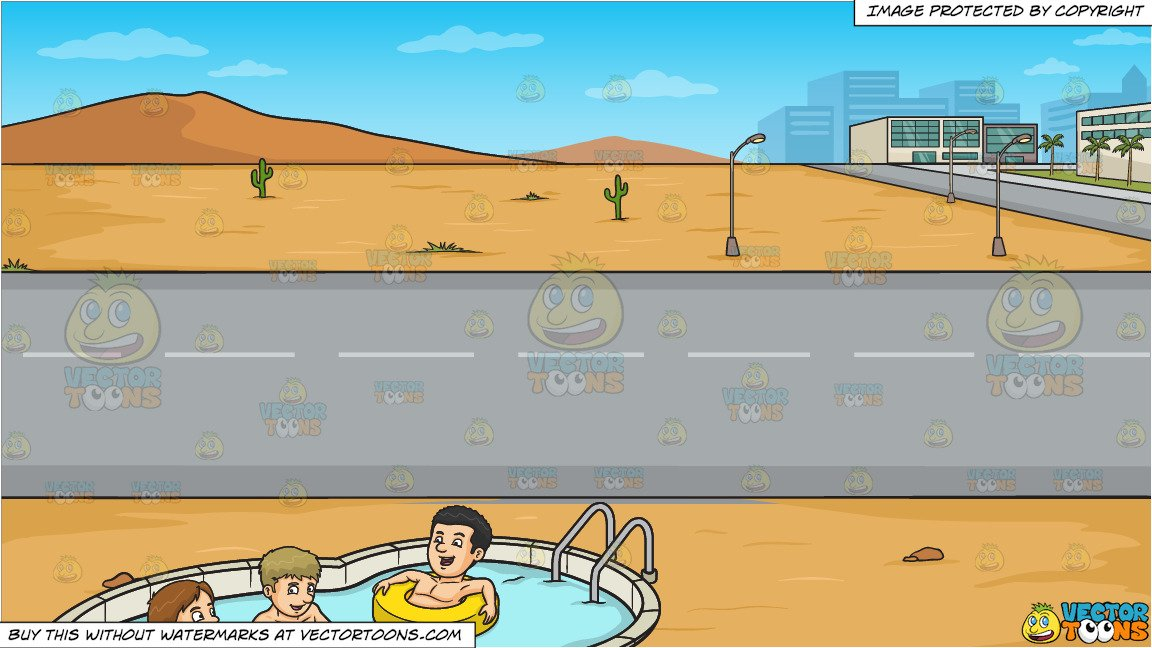 Take a dip swimming clipart png transparent stock Three Friends Enjoying A Dip In The Pool and A Road Running Through A  Desert Town Background png transparent stock