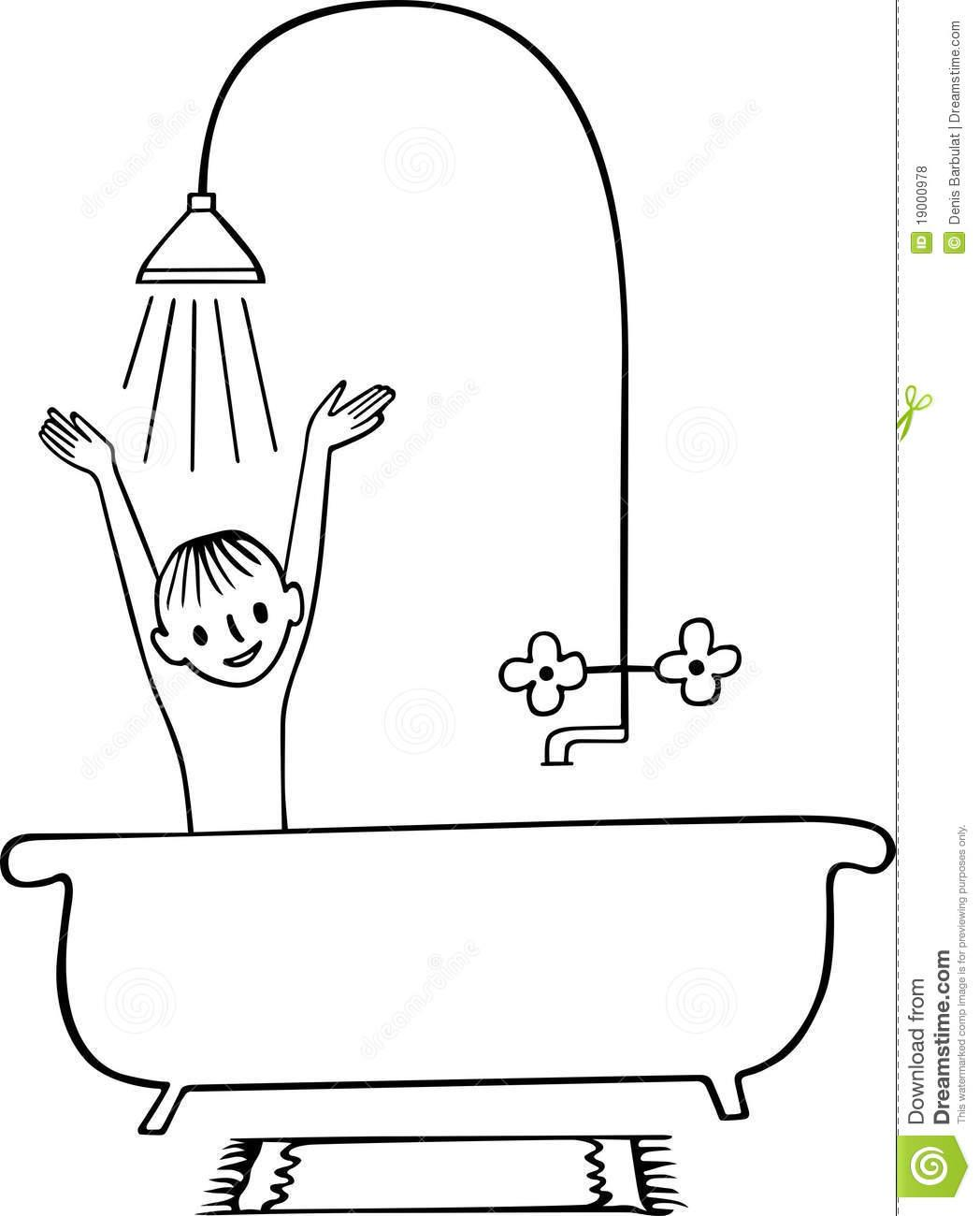 Take a shower clipart black and white clipart freeuse Bath Clipart Black And White - HOME INSPIRATION clipart freeuse