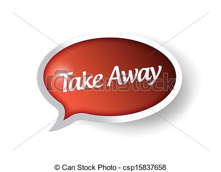 Take home message clipart graphic black and white download Clipart Vector of take away message bubble illustration design ... graphic black and white download