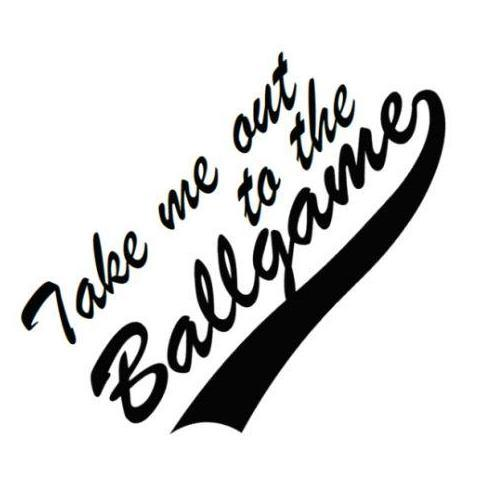 Take me out to the ballgame clipart clip art black and white stock Take me out to the Ballgame Write Words Reusable Cling clip art black and white stock