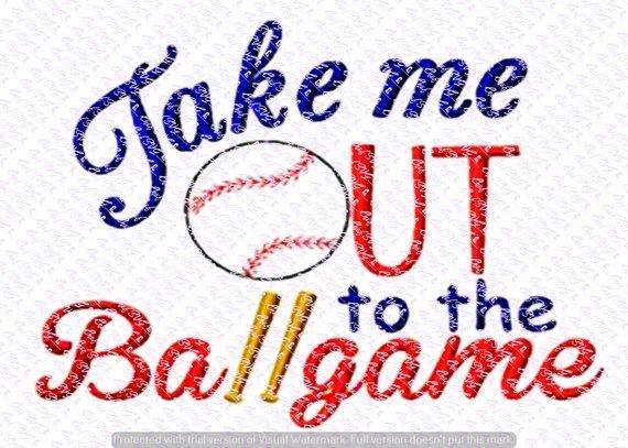 Take me out to the ballgame clipart