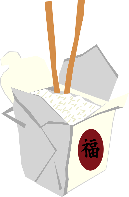 Take out food clipart graphic black and white download Free Clipart: Chinese Take Out Box | oosabs graphic black and white download