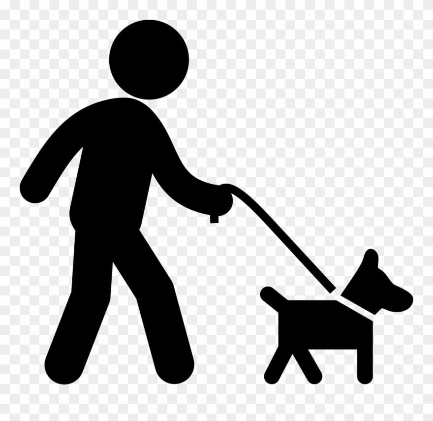 Take your dog on a walk clipart stick svg download Dog With Belt Walking With A Man Comments - Dog On Leash ... svg download