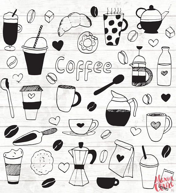 Takeaway coffee clipart picture library Coffee Clipart - coffee cups - coffee mugs - takeaway coffee ... picture library
