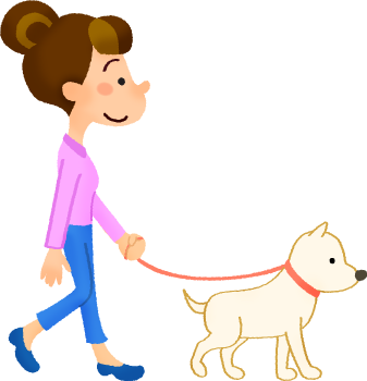 Taking a dog out clipart png freeuse download Woman taking dog for a walk | Free Clipart Illustrations ... png freeuse download