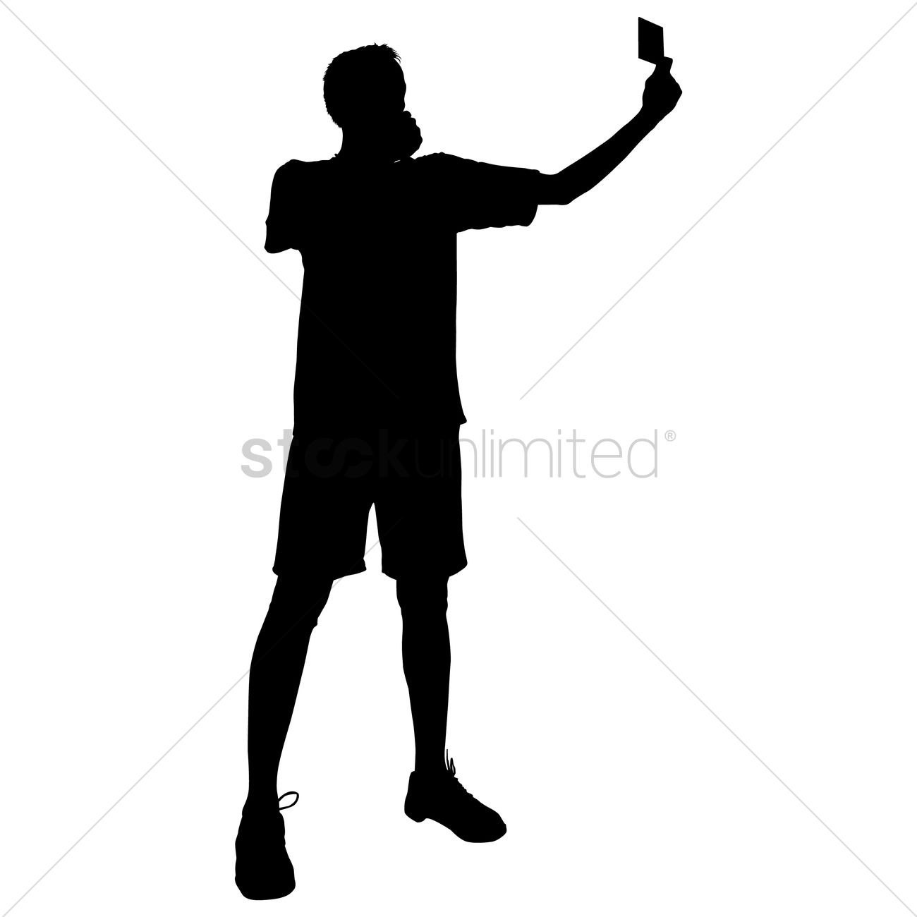 Taking a selfie clipart silhouette black and white Silhouette of a man taking selfie Vector Image - 1456610 ... black and white