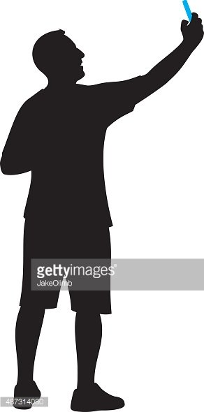 Taking a selfie clipart silhouette svg royalty free library Man Taking Selfie Silhouette stock vectors - Clipart.me svg royalty free library