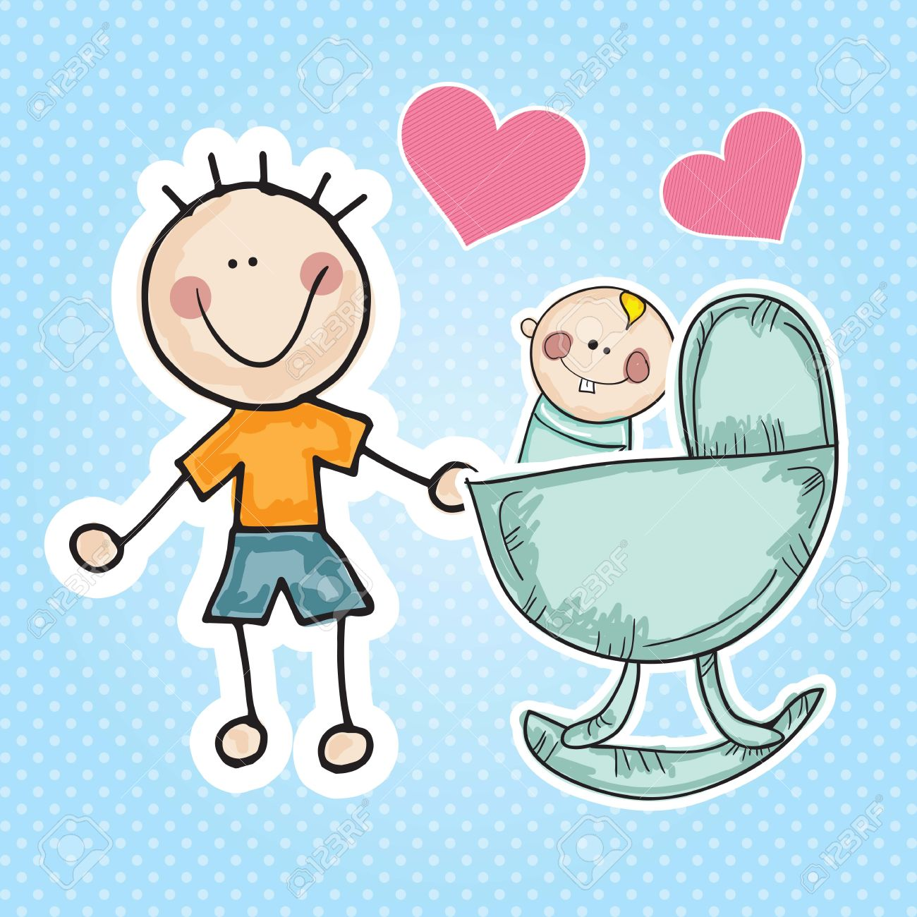 Taking care of baby clipart clip stock Father Taking Care Of Child Clipart & Free Clip Art Images ... clip stock