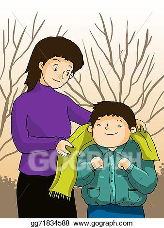 Taking care of everything clipart banner transparent stock Stock Illustration - Mother take care children, kid and mom ... banner transparent stock