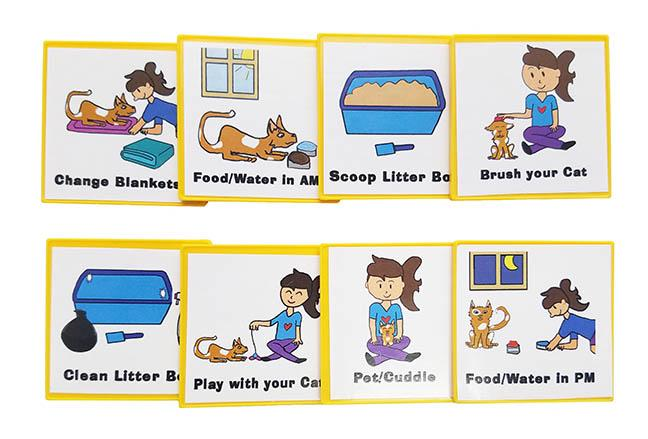 Taking care of kid clipart png library Kid Inspired Cat Care Chart by Kenson Kids png library