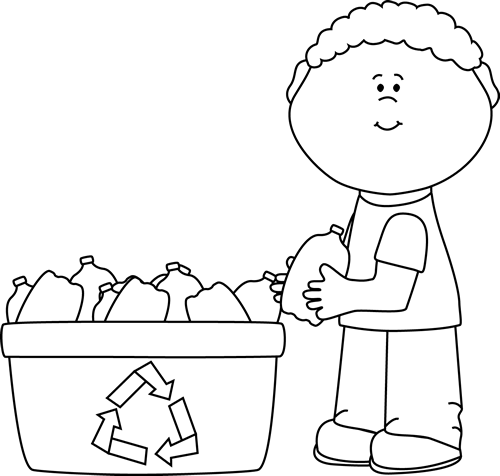 Taking care of the environment clipart black and white freeuse stock clip art black and white | Black and White Boy Recycling ... freeuse stock