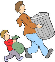 Taking out the garbage clipart graphic black and white library Garbage Clipart Free | Free download best Garbage Clipart ... graphic black and white library