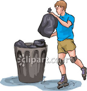 Taking out the trash clipart picture free download A Boy Taking Out the Trash - Royalty Free Clipart Picture picture free download