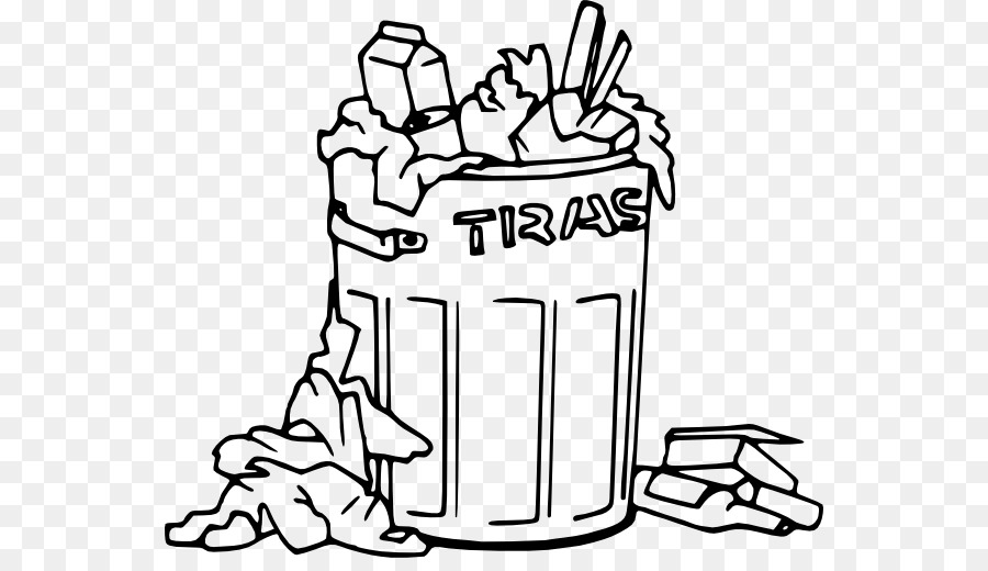 Taking out trash clipart black and white image transparent stock Hand Cartoon clipart - Hand, transparent clip art image transparent stock