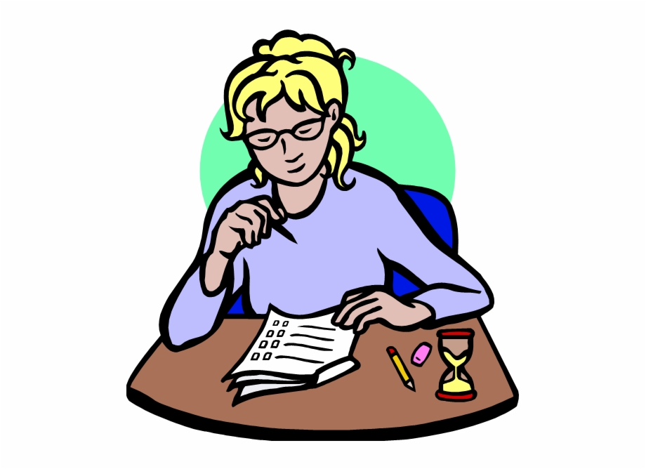 Taking test clipart