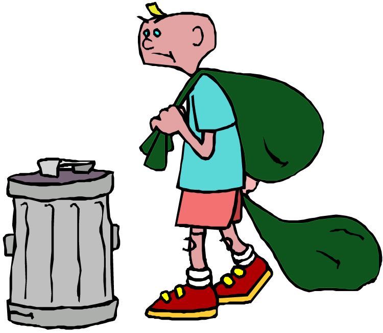 Taking trash out clipart royalty free library Take Out Trash Clip Art N4 free image royalty free library
