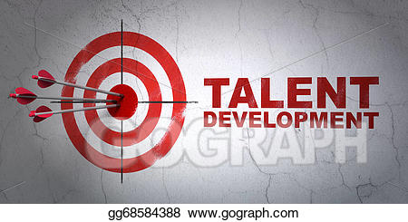 Talent development clipart png black and white download Drawing - Education concept: target and talent development ... png black and white download