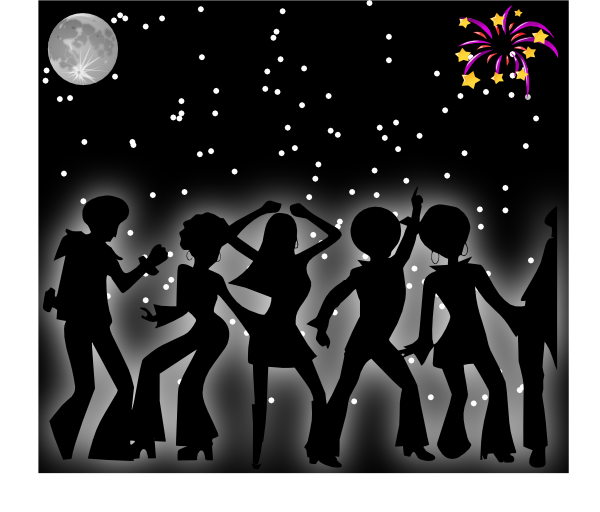 Talent show star black and white clipart clip Dancing In The Dark Clip Art at Clker.com - vector clip art online ... clip