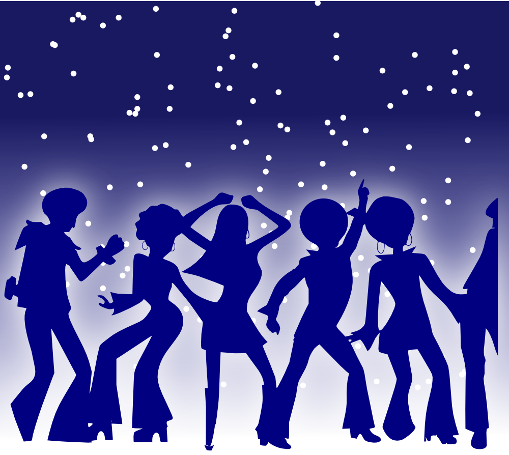 Talent show star black and white clipart graphic free stock OnlineLabels Clip Art - Disco Dancers graphic free stock