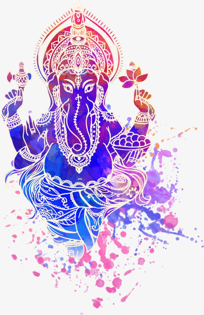 Talentoso clipart vector black and white library Ganesha Hindu God, Ink, Elephant Head, India PNG Transparent ... vector black and white library