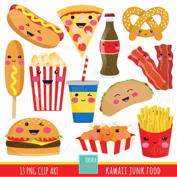 Talentoso clipart picture transparent stock 50% SALE junk food clipart, fast food clipart, kawaii ... picture transparent stock