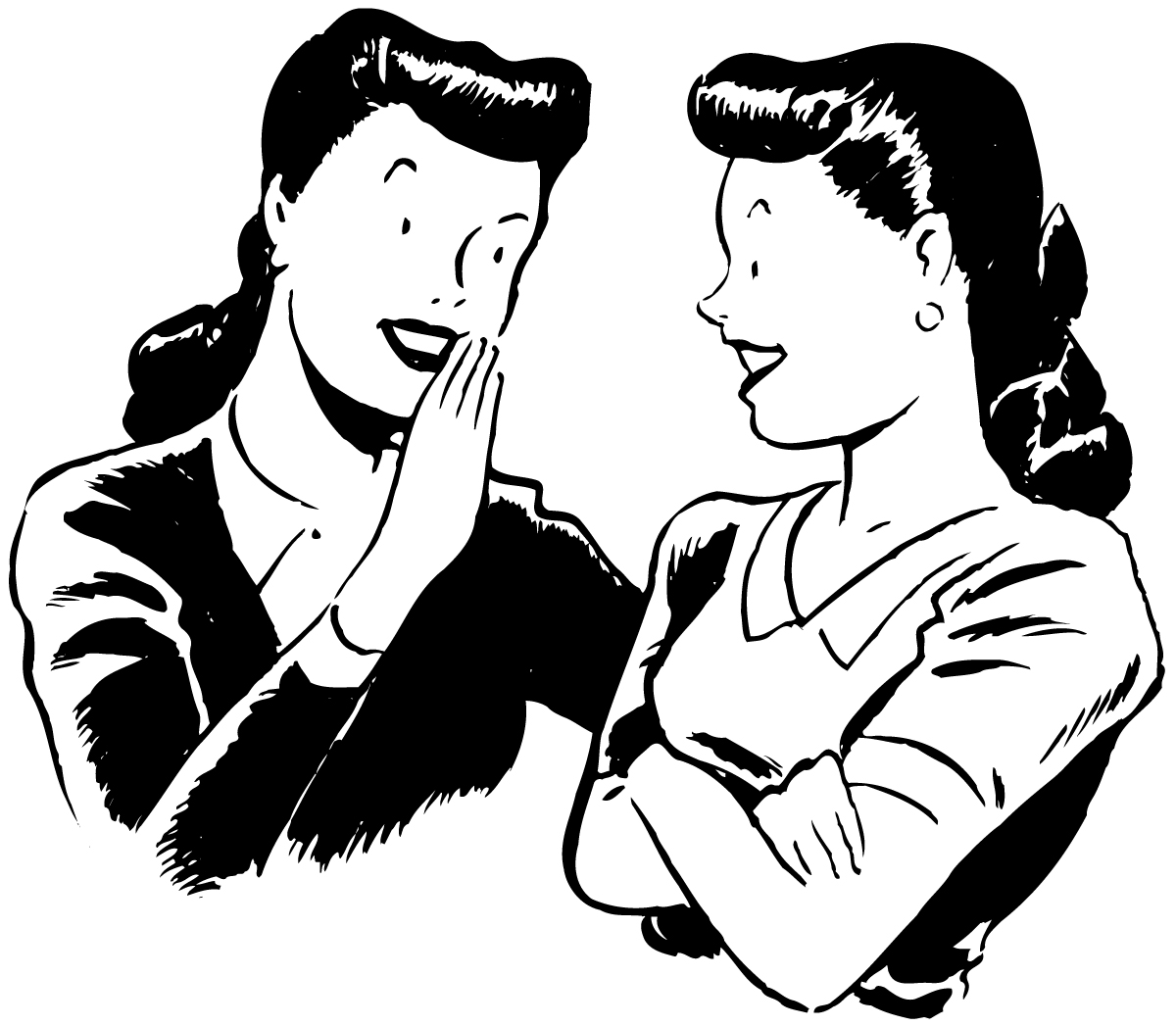 Talk back clipart banner black and white Joyful Expressions: Girl Talk and Old Movies banner black and white